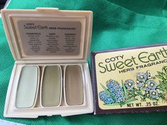 Vintage HTF Coty Sweet Earth HERBS Solid Perfume Compact NEW in   eBay