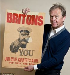 The last surviving copy of the 'Lord Kitchener Wants You' First World War recruiting poster in public possesion will be sold for at least £15,000. The current owners purchased the poster for  £100 back in 1983. Despite being a very popular and iconic image of the war responsible for millions of men enlisting in the army, only 10,000 copies were printed and only 3 survive.