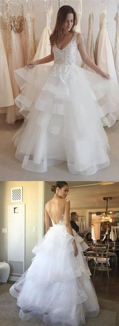2017 wedding dress, white wedding dress, long wedding dress, wedding dress with backless