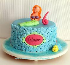 Tarta Fondant Cumpleaños La Sirenita
