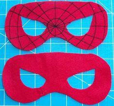 máscara en fieltro super héroe para disfraces