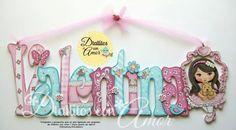 Web Bubble Letters, Love Letters, Estilo Country, Name Plaques, Baby Shower, Painted Letters, Glass Blocks, Tole Painting, Wood Doors