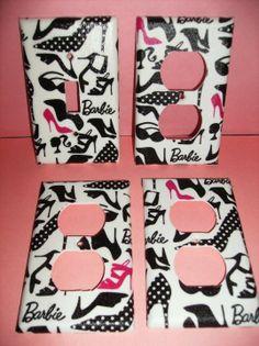Black and White Retro Barbie Single Light by COUTURELIGHTPLATES, $13.00