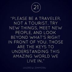 Please be a traveler, not a tourist!    www.elnomad.com  Twitter/elnomad - #onlyinECUADOR