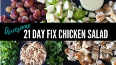 This 21 Day Fix Chicken Salad is a HIT with my challengers! It's the perfect balance of flavors, as well as creaminess and crunchiness..