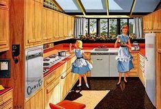 1950's Kitchen [http://atomicranchdinogal.blogspot.com/2008/12/1950s-kitchen.html]