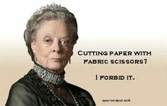 Cutting paper with fabric scissors? I forbid it.