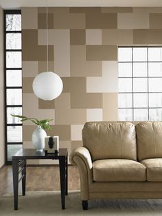 Select a few of your favorite paint colors to make your wall a focal point.
