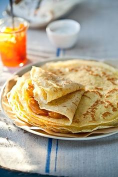 Gluten Free Crepes With Honey Lavender Roasted Persimmons by tartelette, via Flickr