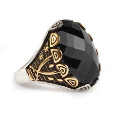 Men Ring 925 Silver,Natural Black Onyx Size 9-10-11 US Men's Gemstone Jewelry #IstanbulJewellery #Statement