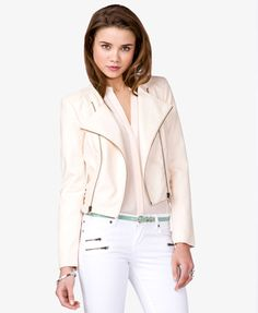 faux leather jacket at forever21 - a stylish and inexpensive way to rock the vegan look :)