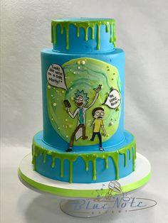 Rick & Morty drip cake.