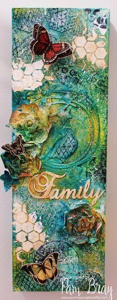 family mixed media canvas - Google Search
