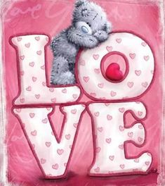 """Tatty Teddy """"Love"""" Me to You™ Bear Valentines Day. Tatty Teddy, Blue Nose Friends, Bear Pictures, Cute Pictures, Teddy Pictures, Illustration Mignonne, Bear Valentines, Bear Cartoon, Love Bear"""