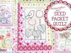 seed packet quilt pattern by red brolly 5