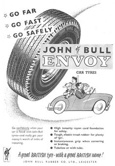 John Bull Envoy Tyres Ad 1959