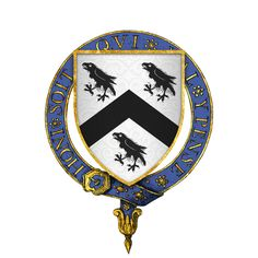 Coat of arms of Sir Rhys ap Thomas -a Welsh soldier and landholder who rose to prominence during the Wars of the Roses, and was instrumental in the victory of Henry Tudor at the Battle of Bosworth Field. Some sources claim that he personally delivered the death blow to King Richard III with his poleaxe.