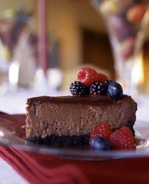 Gluten-Free Irish Cream Chocolate Cheesecake