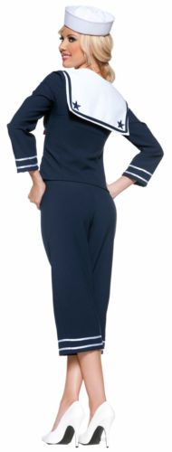 Details about LADIES SEXY SAILOR FANCY DRESS COSTUME OUTFIT NAVY ...