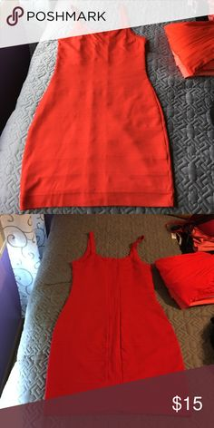 red dress Express tank top red dress with zipper Express Dresses Midi