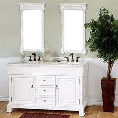 Bellaterra Home Calabria 60-in. Double Bathroom Vanity - http://bathroomvanitiespot.com/bellaterra-home-calabria-60in-double-bathroom-vanity-bth219-1/