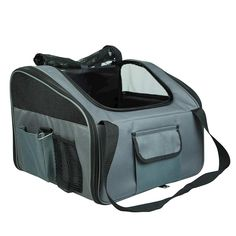 Portable 2 Pocket Pet Booster Soft Crate XL - GREY - 9352338003675 For Sale, Buy from Fabric Crates & Carriers collection at MyDeal for best discounts. Pet Car Seat, Car Seats, Portable Car Seat, Pocket Pet, Crates, Your Pet, Puppies, Pets, Stuff To Buy