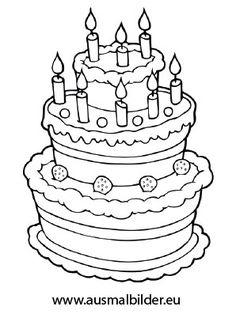 Geburtstagstorte Malvorlage