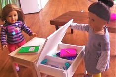 How to Make a School Desk for American Girl Dolls
