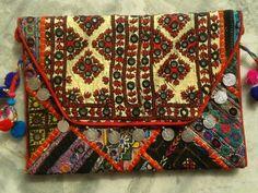 Vintage Banjara Patchwork Clutch Bag vii
