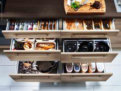 Ikea organized drawers