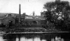 Old photograph of Bladnoch Whisky Distillery in Scotland - early 1907