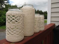 Crocheted Jars