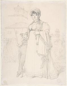 Jean-Auguste-Dominique Ingres, Madame Guillaume Guillon Lethière, née Marie-Joseph-Honorée Vanzenne, and her son Lucien Lethière, 1808