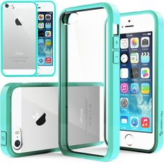 Caseology Apple iPhone 5/5S [Premium Fusion Series] - Slim Fit Hybrid Scratch-Resistant Clear back thin Cover with Shock Absorbent TPU Protector Bumper Case (Turquoise / Mint) [Made in Korea] (for Verizon, AT&T Sprint, T-mobile, Unlocked) Caseology,http://www.amazon.com/dp/B00FA9DM1U/ref=cm_sw_r_pi_dp_1GKHtb14AGED11D3