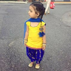 Sho Cute: young girl in Indian salwaar kameez, Indian fashion for Kids via @topupyourtrip