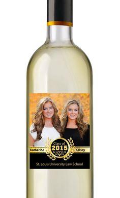 Photo Graduation Wine Labels  Personalized by AnnounceItFavors