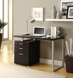 Pascua 3 Space Storage Drawers Computer Desk