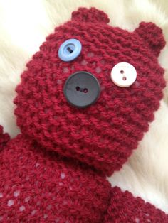 Button Eye Bear by jonesyinc on Etsy, £15.00