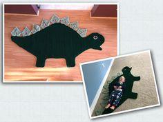Stegosaurus Dinosaur Rug, pattern by Ira Rott Crochet Dinosaur, Creature Feature, Dinosaurs, Crochet Baby, Crochet Patterns, Creatures, Kids Rugs, Cute