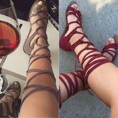 Leg Wrap Lace up Gladiator Sandals