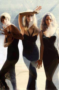 "aleworldaddict: ""Linda Evangelista, Claudia Schiffer and Christy Turlington by Steven Meisel for Vogue US September 1993 """
