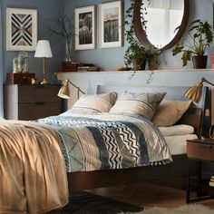 ideas for bedroom inspiratie ikea Side Tables Bedroom, Bedroom Design, Ikea, Home Decor, Bedroom Inspirations, Woman Bedroom, Interior Design, Home And Living, New Room