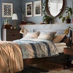 ideas for bedroom inspiratie ikea Bedroom Layouts, Room Ideas Bedroom, Bedroom Colors, Bedroom Decor, Ikea Bedroom, Grey Interior Design, Home Interior, Ikea Stockholm, Stockholm Mirror Ikea
