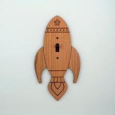Wood Rocket Switchplate Kids Nursery Wall by graphicspaceswood, $28.00