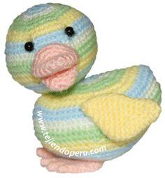 Tutorial: patito tejido a crochet (amigurumi duck)