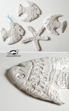 Clay Fish - crafts idea with kids