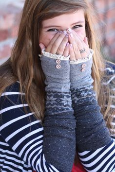 Wool Fingerless gloves, Hand warmers, Handwarmers, Arm warmers, Christmas, stocking stuffer, lace, Black, White, Grey, Snowflake
