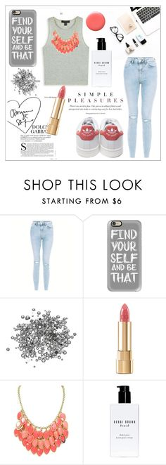 """""""#27 Simple pleasures """" by romyyyyx on Polyvore featuring adidas, New Look, Casetify, Dolce&Gabbana, Bobbi Brown Cosmetics and Lauren B. Beauty"""