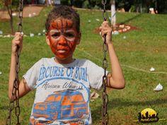 Homem Aranha desenho no rosto do garoto no Dia das Crianças 2015 na cidade de Leopolis - Parana