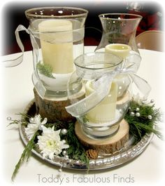 Rustic Wedding Centerpieces | Today's Fabulous Finds: Rustic-Elegant Winter Wedding Centerpieces
